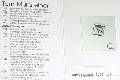 A218-12z0480【Munsteiner】ルチルクォーツK18WGネックレス