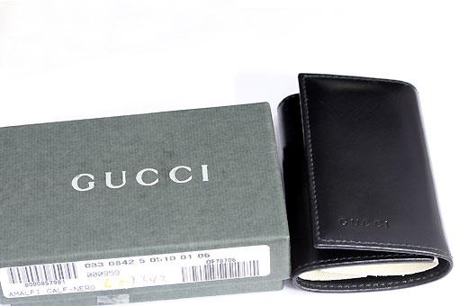 TT-19n0178【GUCCI(グッチ)】カーフブラック6連キーケース