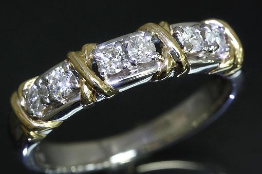 F72-20t0028-2【ダイヤモンド 0.30cts】Pt900/K18リング