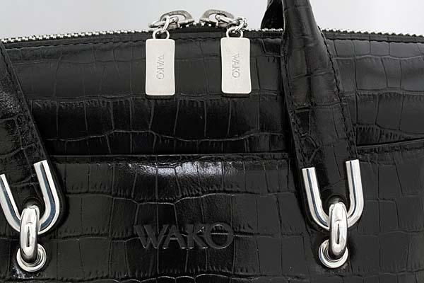 17r0168-9【和光】WAKO牛革ハンドバッグ