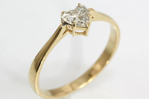 A549-20n0153【ダイヤモンド 0.318cts】K18リング