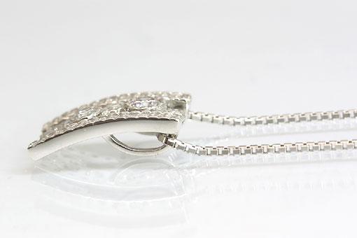 A546-20n0109【天然ピンク&ホワイトダイヤモンド 】Pt900/850ペンダントネックレス