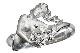 A460-17n0091-4【Carrera y Carrera】ダイヤモンド人魚K18WGリング