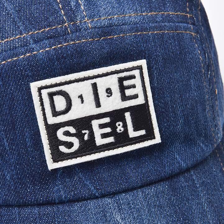 ディーゼル DIESEL ジェットキャップ 帽子 メンズ ダメージ加工 デニム素材 ワッペン スナップバック CHANNEL-D