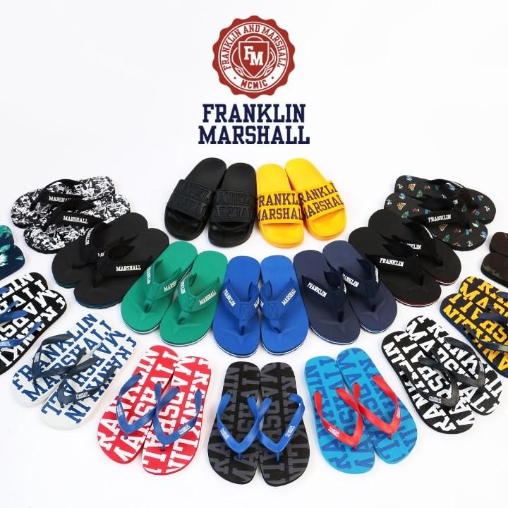 フランクリン&マーシャル FRANKLIN & MARSHALL ビーチサンダル メンズ レディース 男女兼用 ロゴストラップ トングサンダル ビーサン FTUA984