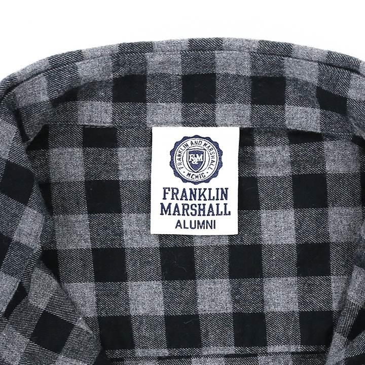 フランクリン&マーシャル FRANKLIN & MARSHALL フランネルシャツ レディース チェック柄 コットン 長袖シャツ TAYLOR