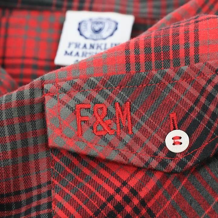 フランクリン&マーシャル FRANKLIN & MARSHALL フランネルシャツ レディース チェック柄 コットン 長袖シャツ JAIME