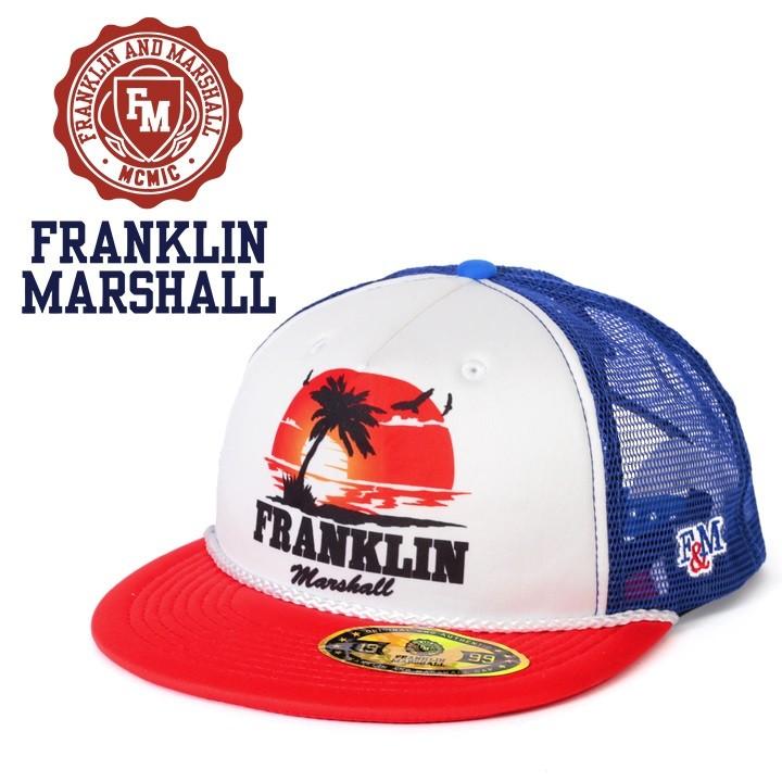 フランクリン&マーシャル FRANKLIN & MARSHALL メッシュキャップ 帽子 メンズ レディース 男女兼用 スナップバック プリント CPUA911