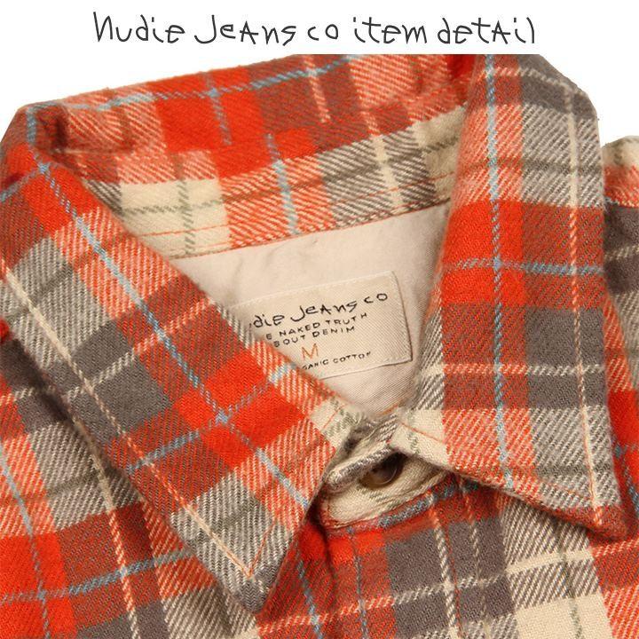 ヌーディージーンズ Nudie Jeans 長袖シャツ メンズ オーガニックコットン チェック柄 厚手 ネルシャツ GUNNAR/TWILL CHECK