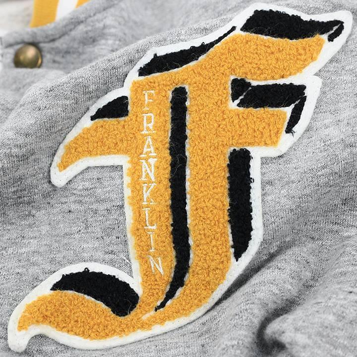 フランクリン&マーシャル FRANKLIN & MARSHALL スウェットカーディガン レディース 裏起毛 ワッペン装飾 長袖 FLEECE FLEECE LONG