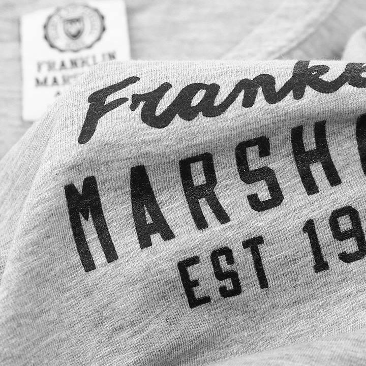 フランクリン&マーシャル FRANKLIN & MARSHALL Tシャツワンピース レディース バックプリント 七分袖 DRESS JERSEY ROUND NECK 3/4
