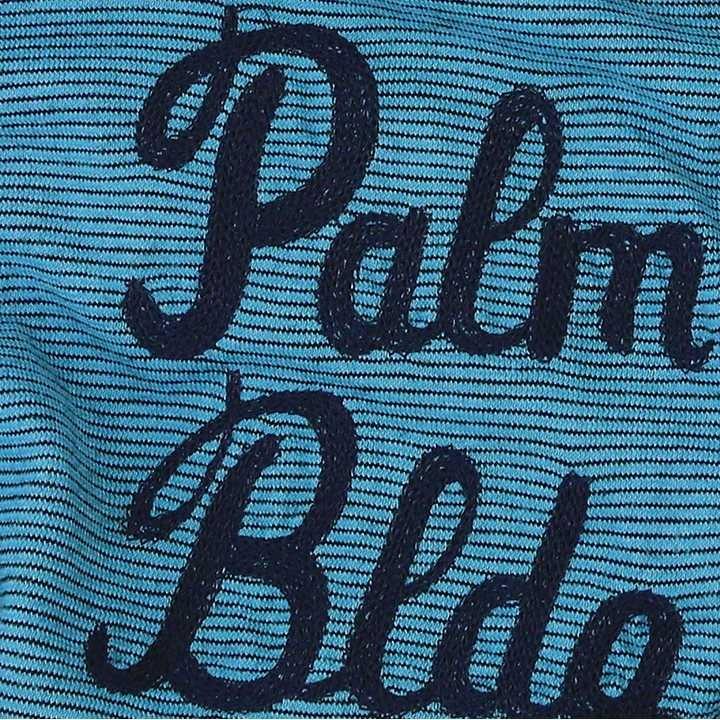 フランクリン&マーシャル FRANKLIN & MARSHALL 半袖Tシャツ レディース ボーダー柄 薄手 TSHIRT JERSEY ROUND NECK SHORT