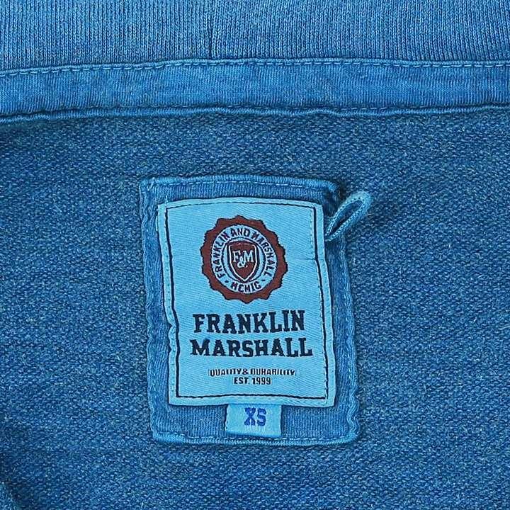 フランクリン&マーシャル FRANKLIN & MARSHALL ジップアップフードパーカー レディース ムラ染め FLEECE FLEECE ZIP+HOOD LONG