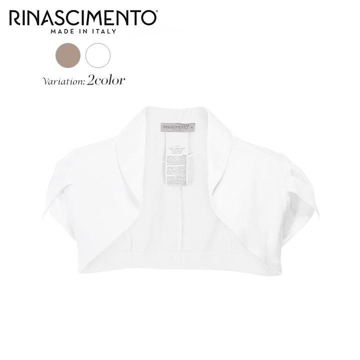 リナシメント Rinascimento ボレロ レディース ショールカラー ペタルスリーブ シンプル