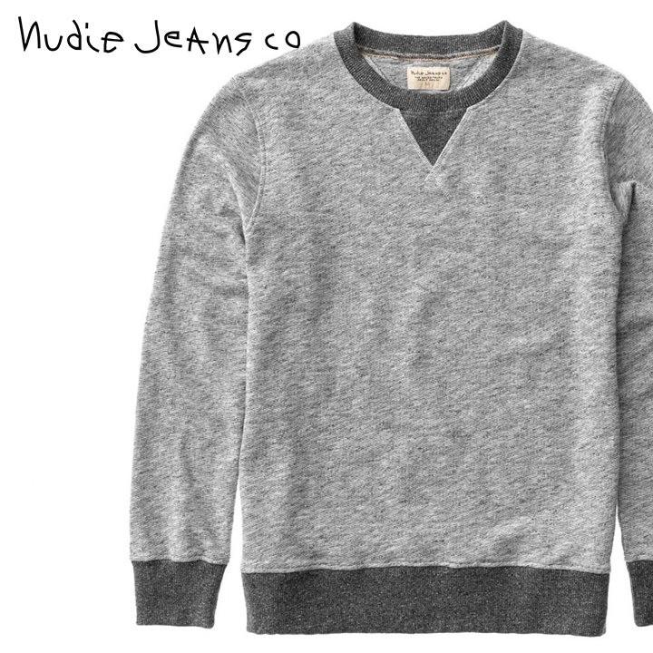 ヌーディージーンズ Nudie Jeans スウェットシャツ トレーナー メンズ オーガニックコットン 杢調 SVEN TWO TONE/CONTRAST RIB