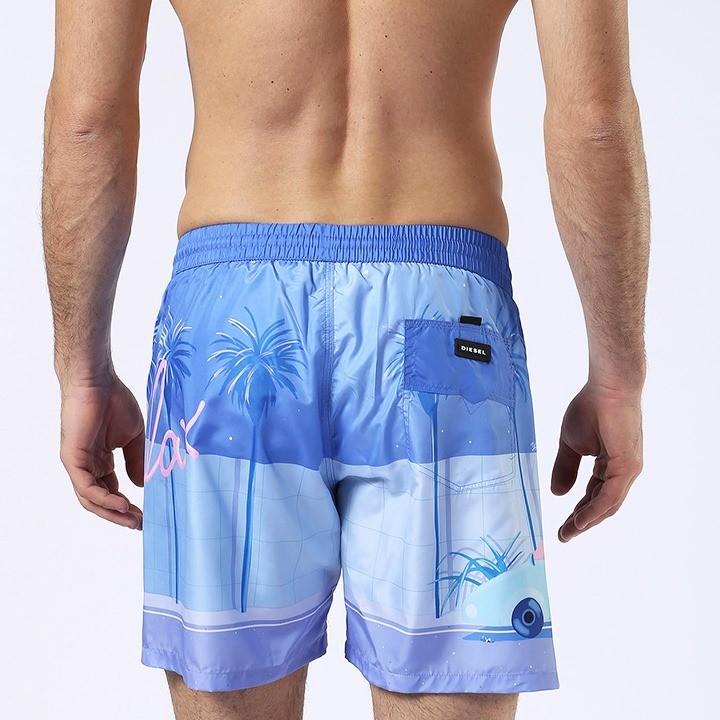 ディーゼル DIESEL 海パン ビーチウェア スイムウェア メンズ ヤシの木柄 メンズ水着 男性水着 サーフトランクス サーフパンツ BMBX-WAVE