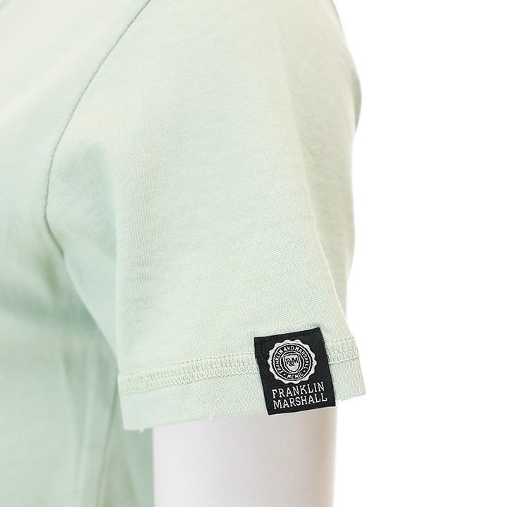 フランクリン&マーシャル FRANKLIN & MARSHALL 半袖Tシャツ レディース シンプル 無地 ステッチ TSHIRT JERSEY ROUND NECK SHORT