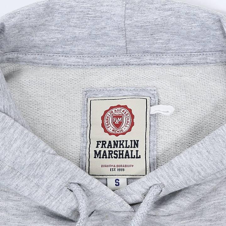 フランクリン&マーシャル FRANKLIN & MARSHALL スウェットパーカー レディース ロゴプリント 薄手 プルオーバー FLEECE FLEECE HOODED LONG