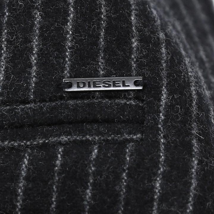 ディーゼル DIESEL ジレ ベスト メンズ ストライプ柄 ウール混 5ボタン J-CHINU