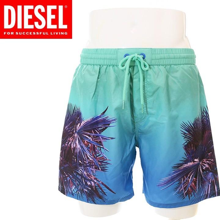 ディーゼル DIESEL 海パン ビーチウェア スイムウェア メンズ パームツリー柄 メンズ水着 男性水着 サーフトランクス サーフパンツ BMBX-WAVE