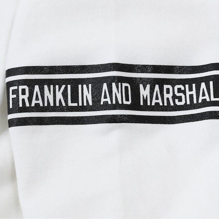 フランクリン&マーシャル FRANKLIN & MARSHALL プルオーバーパーカー レディース ロゴワッペン 薄手 ショート丈 FLEECE FLEECE HOODED LONG