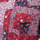 ディーゼル DIESEL 長袖シャツ メンズ 総柄 小花柄 配色 スナップボタン S-POR