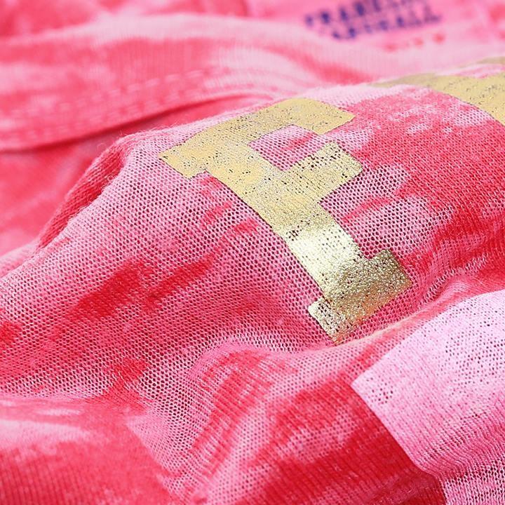 フランクリン&マーシャル FRANKLIN & MARSHALL Tシャツワンピース レディース ヴィンテージ加工 ムラ染め加工 DRESS JERSEY ROUND NECK SHORT