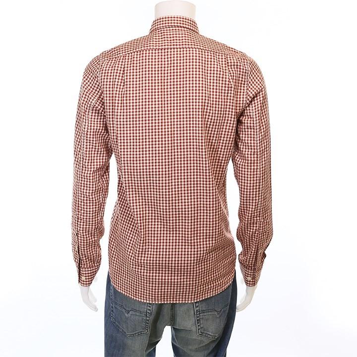ヌーディージーンズ Nudie Jeans コットンシャツ メンズ チェック柄 長袖シャツ HENRY/TWO TONE TWILL CHECK