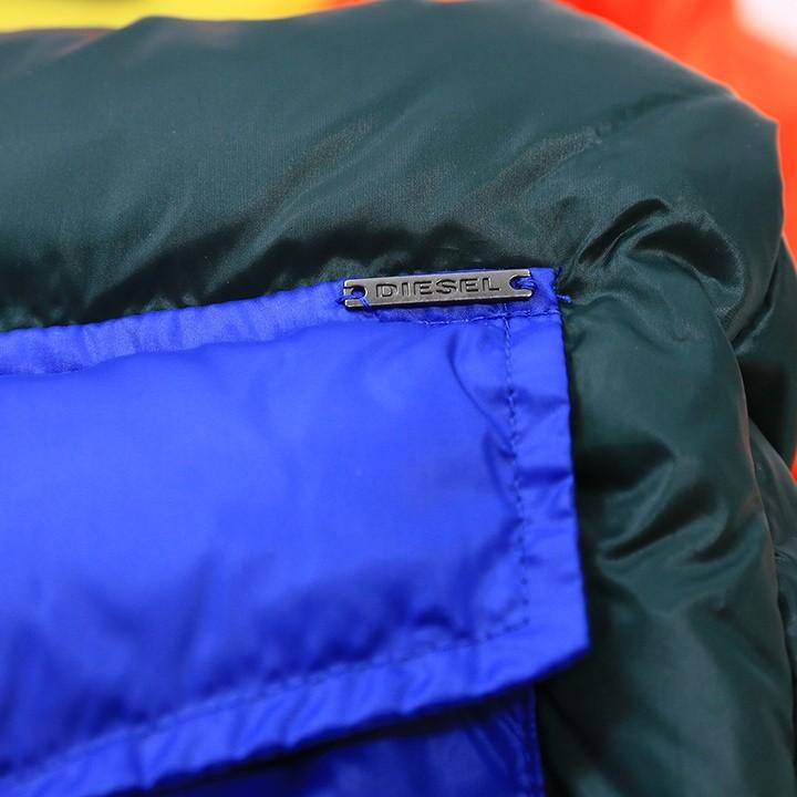 ディーゼル DIESEL ダウンジャケット メンズ クレイジーカラー 配色ボーダー切替 DOWNP-ED