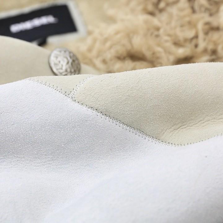 ディーゼル DIESEL ロングコート メンズ 羊革 本革 総裏ボア 配色切替 ラムレザーコート BIGFOOT-ED