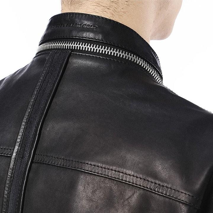 ディーゼルブラックゴールド DIESEL BLACK GOLD レザーハーフコート メンズ ブルレザー 本革 ライダースデザイン LARTEFICE