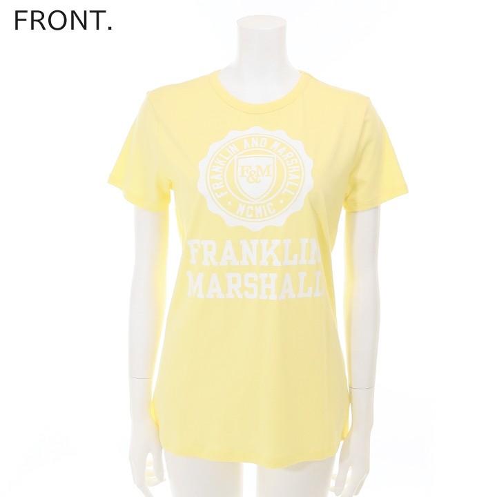 フランクリン&マーシャル FRANKLIN & MARSHALL Tシャツ カットソー レディース エンブレムロゴ ラウンドネック 半袖 TSHIRT JERSEY ROUND NECK SHORT