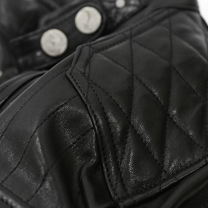 ディーゼルブラックゴールド DIESEL BLACK GOLD レザージャケット メンズ 羊革 本革 バイカー ライダース LUNT