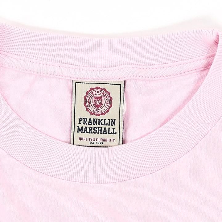 フランクリン&マーシャル FRANKLIN & MARSHALL Tシャツ カットソー レディース メッシュ切替 ラウンドネック 半袖 TSHIRT JERSEY ROUND NECK SHORT