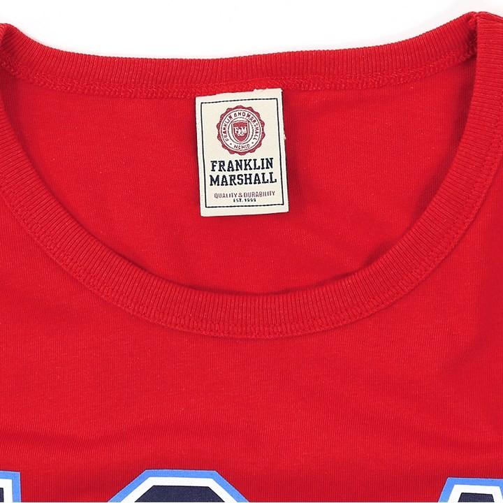 フランクリン&マーシャル FRANKLIN & MARSHALL 半袖Tシャツ レディース メッシュ切替 クロップド ショート丈 TSHIRT JERSEY ROUND NECK SHORT