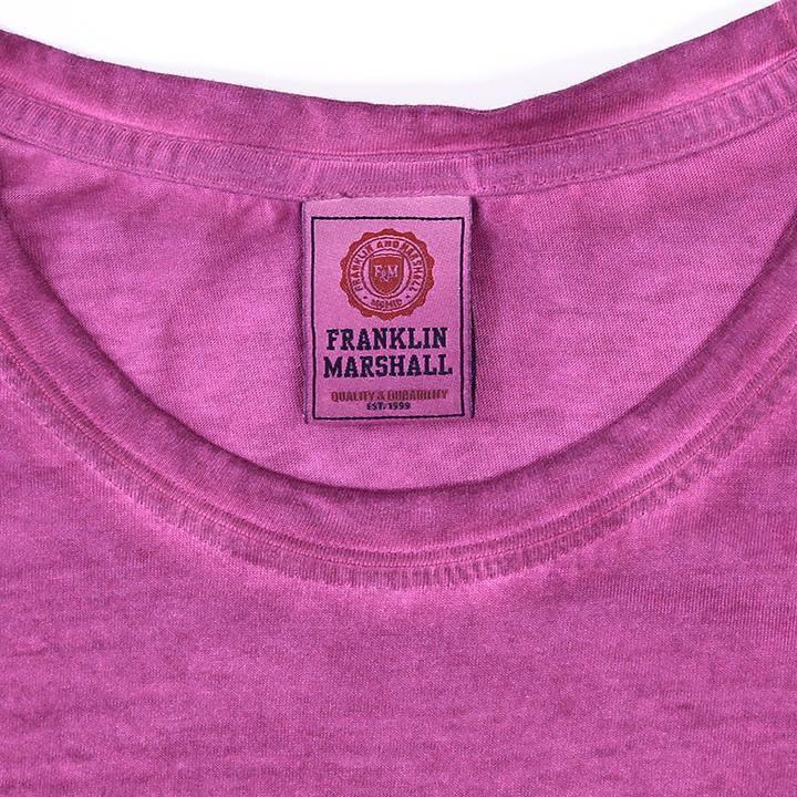 フランクリン&マーシャル FRANKLIN & MARSHALL 半袖Tシャツ レディース ガーメントダイ 後染め TSHIRT JERSEY ROUND NECK SHORT