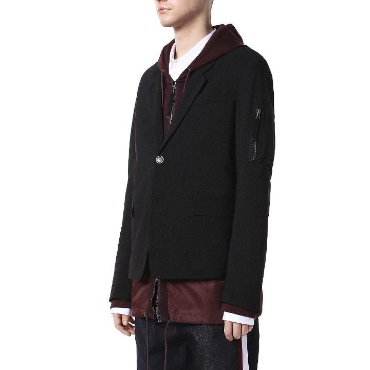 ディーゼルブラックゴールド DIESEL BLACK GOLD テーラードジャケット メンズ ヴァージンウール ストレッチ ジップポケット JIRA