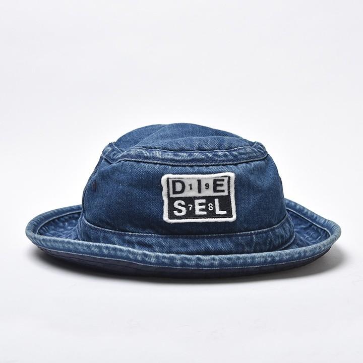 ディーゼル DIESEL バケットハット 帽子 メンズ レディース 男女兼用 ナイロン裏地 デニム ワッペン CIDENIM-A