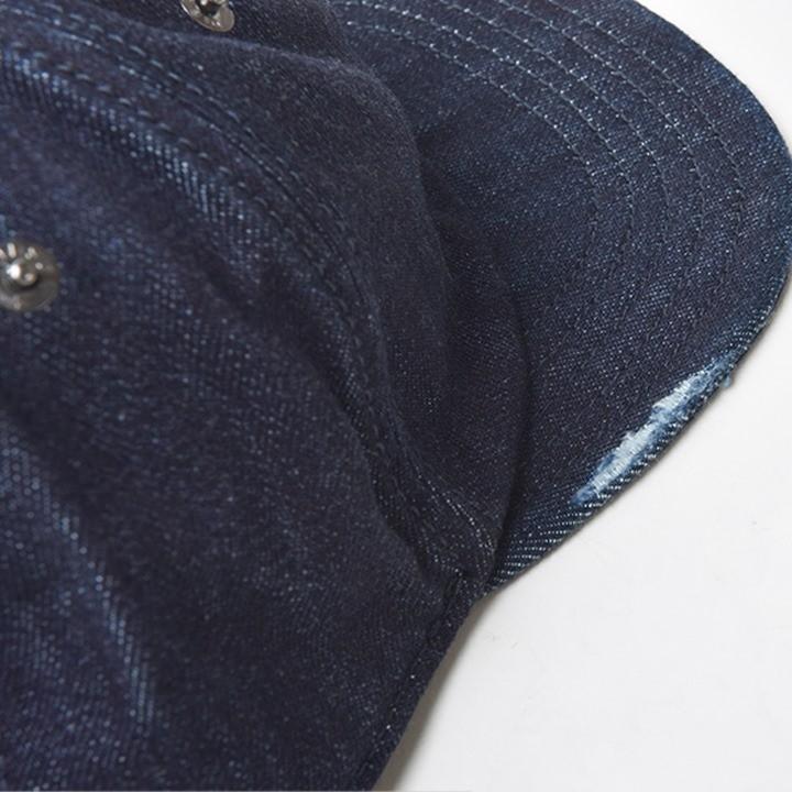 ディーゼル DIESEL バックストラップキャップ 帽子 メンズ ダメージ加工 デニム素材 ツバ芯なし SHER