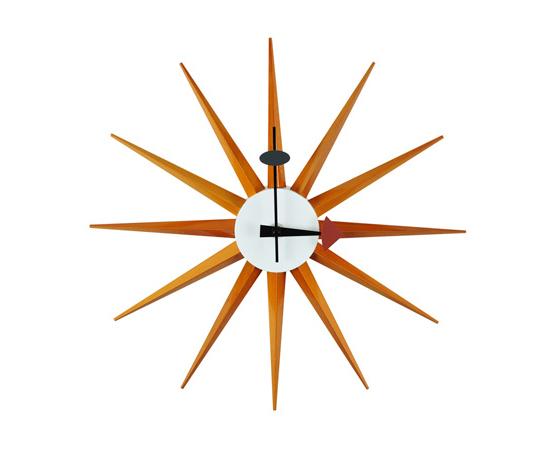 デザイナーズウォ−ルクロック-壁掛け時計-サンバーストクロックー