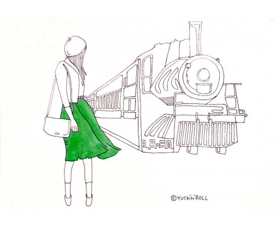 アートパネル「汽車に乗って」