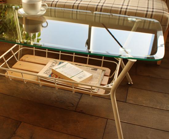 ビーワイケージ ガラステーブル