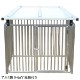 犬のサークル 4枚組パネルセット 【アルミ製 9-4AY 屋根付き】 高さ900×W1200×D1250mm 屋外・室内 兼用