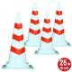 【ホワイトスコッチコーン 25本セット (安全興業)】 白赤 反射テープ3段巻 高さ700 PE素材