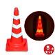【LEDスコッチコーン 5本セット】 高さ700 赤白 反射テープ巻 夜間自動点滅機能付き 点滅/点灯切り替え式 積み重ね可能