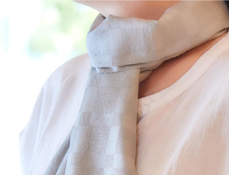 スカーフ 無地 合成染料 藍鼠