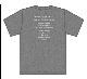 トゥエンティ・ゴー Tシャツ(チャコール)