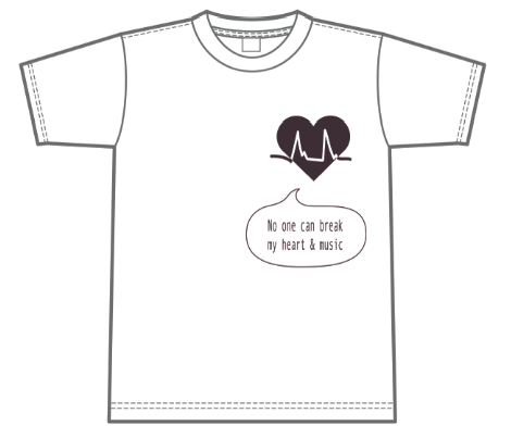 HEART & MUSIC Tシャツ