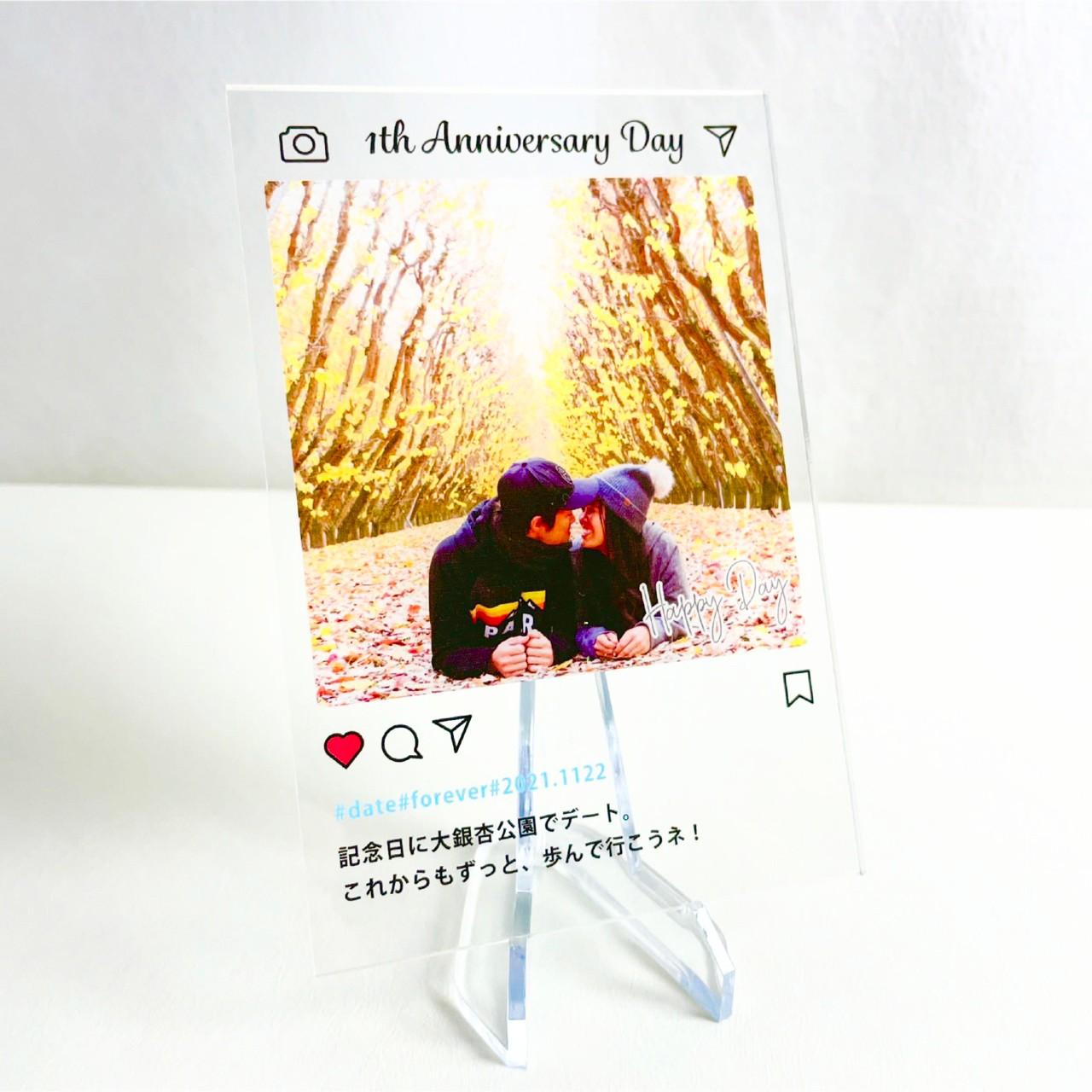 ※送料無料【AC-303】インスタ風アクリルスタンド(Mサイズ)