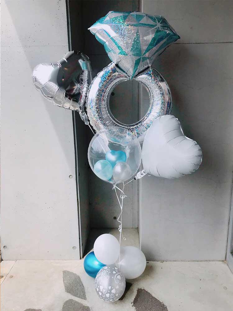 【BL-503】weddingリングのバルーン束